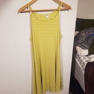 Old Navy Lime Striped Dress